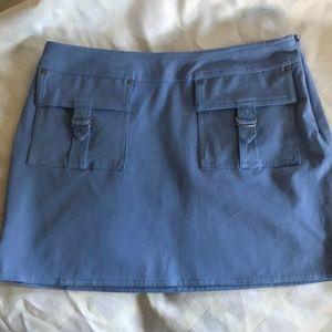 Like new Powder blue mini skirt